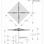 Outdoor clothesline adjustable height measurements