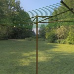 Parallel outdoor clothesline