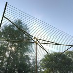 Large outdoor clothesline