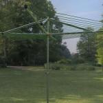 adjustable height outdoor clothesline