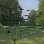 rotary umbrella clothesline